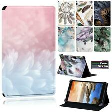 "Pluma de cuero con soporte folio estampado funda para tablet Lenovo Tab 7"" 8"" 10"""
