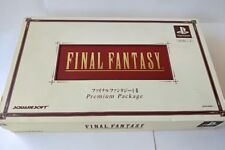 Final Fantasy 1,2 Premium Package Sony Playstation PS Game Boxed set tested-a85-