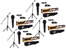 (4) Peavey Pv-Msp1 Complete Microphone, Stand, Bag & Xlr Cable Stage Package New