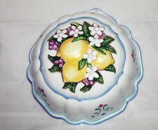LE CORDON BLEU Franklin Mint  Jello Mold 1986 Lemons Vtg Collectible Wall Decor