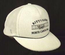 Kitty Hawk NC Wright Flyer White Baseball Cap Hat Terry Cloth EUC Box Shipped