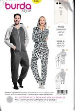 Unisex Loose Fit Hooded Jumpsuit Lounge Overalls Size: XS-XL Sewing Pattern