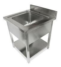 700x700 New Commercial Single Bowl Kitchen Sink 304 Stainless Steel Bench