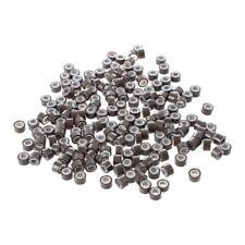 200pzs 5mm Cuentas de enlaces Anillo micro forrado de silicona marron medio J3P9