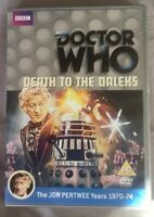 Vgc Dr Who - Death To The Daleks DVD Jon Pertwee