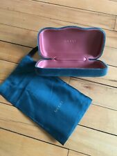 New Gucci Velvet Hard Clam-shell Case, 2017 Collection Green/Teal