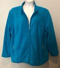 (NWT) Karen Scott Women's Crystal Teal Zero Proof Soft/Cozy Jacket Plus Size 2X