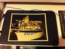 VINTAGE SHERIFF BOAT PHOTO 8X10 COLOR OCT 1969
