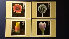 1987 FLOWER PHOTOGRAPHS BY ALFRED LAMMER STAMPS PHQ CARDSWITH LONDON F.D.I.