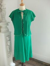 Ladies Vintage 2 Piece Green Disco outfit size 12 by City Swingers