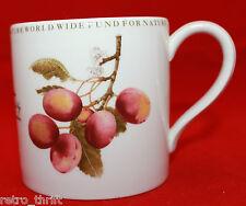 Wedgwood Barlaston Natural History Collection Victoria Plum White Coffee Mug WWF