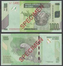 Congo Democratic Republic 1000 Francs 2005 UNC SPECIMEN Banknote KM #101s