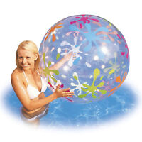61cm-Giant Inflatable Beach Balls Pool Water Toys Transparent Swimming Ball Swim