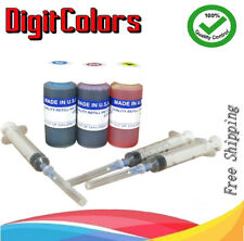 premium tri-color ink refill kit for HP 60/61/62/63/64/65/XL 30ml bottles CMY