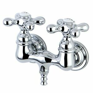 Elements of Design Hot Springs DT0321AX Wall Mount Clawfoot Tub Filler Polish...