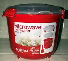 Sistema Microwave 2.4L Medium Microwave Steamer RED