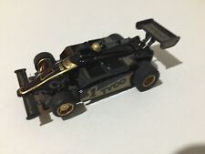 TYCO DIE HARD F1 INDY CAR #1 BLACK GOLD Slot Car 440x2 CHASSIS New Old Stock