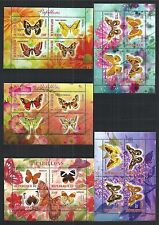 MINI SHEET SET ** BUTTERFLIES SCHMETTERLINGE FLORA FAUNA