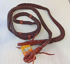 Braided Poly Nylon Roping Rein Western Horse Tack Tough 1 Brown Water Ties 7ft