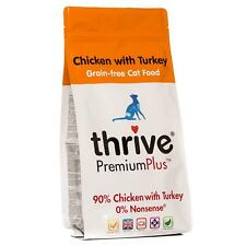 Thrive Premium Plus Chicken & Turkey Dry Adult Cat Food Bag - Grain-Free - 1.5kg