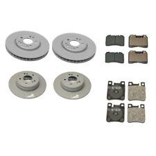 Mercedes R129 SL320 SL500 Front & Rear Brake Disc Rotors w/ Pads OES