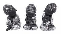 Set of 3 Stunning 20cm Buddha Figurines Ornament Statue - Zen Buddhas
