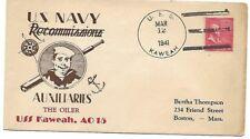 USA: 1941; Cover on board, SS Kaweah, sea post, EBN057