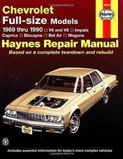 Haynes CHEVROLET IMPALA (69-90) propriétaires Service Repair Workshop Manual Manuel