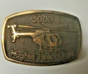 Unique Handcrafted Hughes Helicopter 500D Belt Buckle