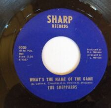 """The Sheppards, What's The Name Of The Game/Glitter In Your Eyes 7"""" vinyl, 1969"""