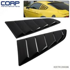 Pair Black Side Window 1/4 Scoop Louver Cover For Ford Mustang 2015-2017