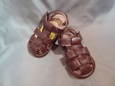 Boys Toddler Squeak Me Shoes Brown Leather Sandals Size 6