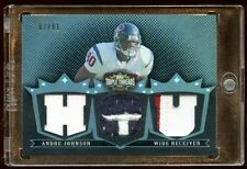 ANDRE JOHNSON 2007 1/1 TRIPLE PRIME PATCHES LOGO  TRUE 1 OF 1 MASTERPIECE TEXANS