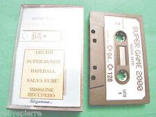 Commodore c64 c128 c 64 128 cassetta SUPER GAME 2000 nuova serie 3 edigamma