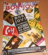 Bon Jovi Access All Areas Promo Original Poster 24x36