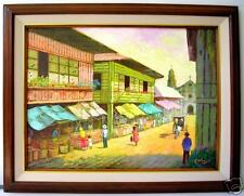 Old Quiapo 18x24 Art Philippines Oil Painting