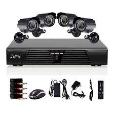 8CH DVR 600TVL Outdoor CCTV Video Home Surveillance Security Camera System D1
