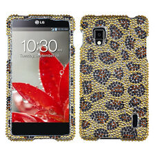 Sprint LG Optimus G LS970 Crystal Diamond BLING Hard Case Phone Cover Leopard