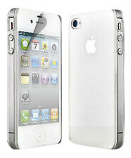 NEW THIN CLEAR SILICONE CASE COVER & SCREEN PROTECTOR FOR APPLE IPHONE 4 4G 4S