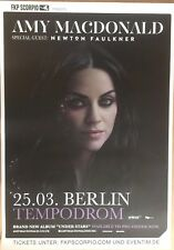 AMY MACDONALD 2017 BERLIN   +  orig.Concert Poster -- Konzert Plakat  A1 NEU
