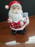 Vtg. Home Interior Christmas Santa Claus Bank   HOMCO Figurine # 5212