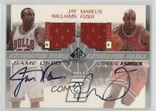2003-04 SP Game Used Authentic Fabrics Dual /50 Jay Williams Marcus Fizer Auto