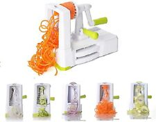 5 Blade Vegetable Spiraliser Spiralizer Heavy Duty Pasta Spaghetti Slicer with I