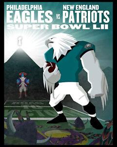 Philadelphia Eagles Super Bowl 52 (2018) Wall Art Poster -  8x10 Color Photo