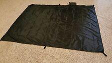Jimmy Tarps UL Ground Cover/ Beach Blanket Sil Poly Black