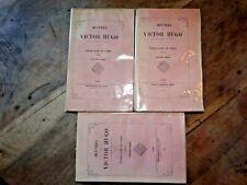 Oeuvres de Victor Hugo - Notre Dame de Paris - 3 Tomes, Complet - 1843