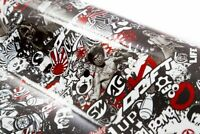 (16EUR pro m²)100x30 Stickerbombfolie Stickerbomb Autofolie sticker bomb MIT ROT