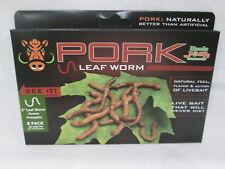 "Rare!! Hard to Find!! UNCLE JOSH 3"" Pork 'Green Pumpkin' Leaf Worm (3N GRN PM)"