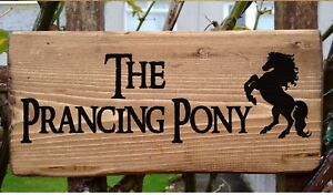 Lord of the Rings The Prancing Pony Hobbit House Plaque Plate Signs Personalise