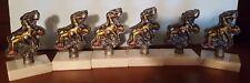 Lot of 6 Male Wrestler Trophy B19 Free Shipping Wrestler Trophies